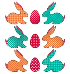 Set of application easter rabbits vector