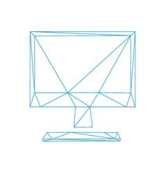 Monitor screen icon abstract vector