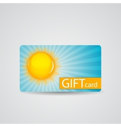 Abstract beautiful sunny gift card design vector