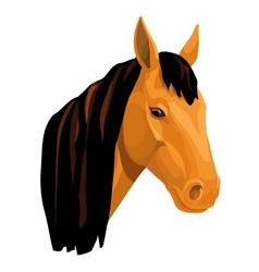 Light bay horse vector