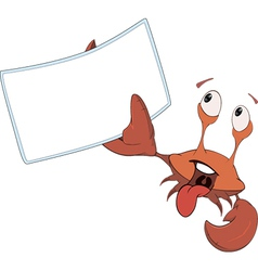 Red crab white blank cartoon vector