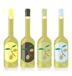Olive oil bottles set vector