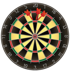 Dartboard and darts vector