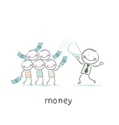 Man and money vector
