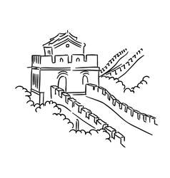 Great wall in china vector