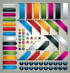 Set of web design elements vector