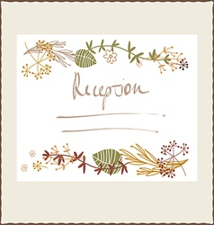 Floral autumn reception design vector