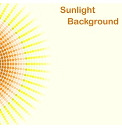 Colorful sunlight background round sunbeams vector