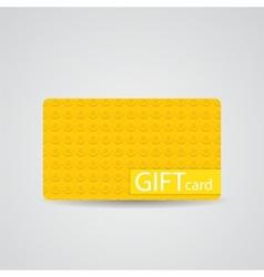 Abstract beautiful block gift card design vector
