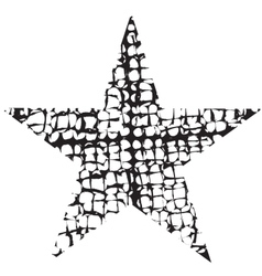 Grunge star one vector