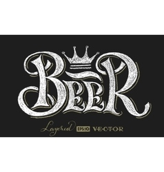Beer lettering on chalkboard vector