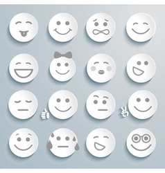 Set of faces with various emotion expressions vector