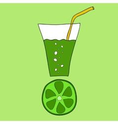 Doodle lime juice vector