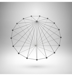 Wireframe mesh polygonal cone vector
