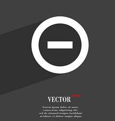 Minus negative zoom stop icon symbol flat modern vector