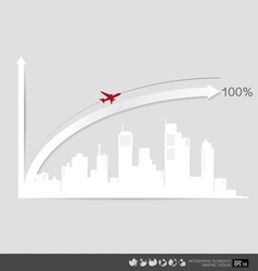 Modern design graph business graph to success vector