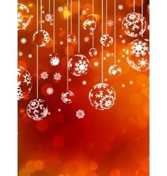 Abstract christmas with snowflake eps 10 vector