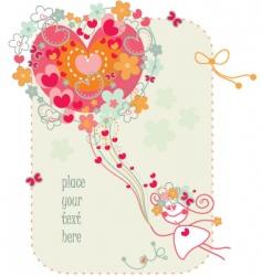 Valentine's card vector