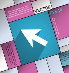 Cursor arrow icon symbol flat modern web design vector