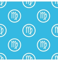 Virgo sign blue pattern vector
