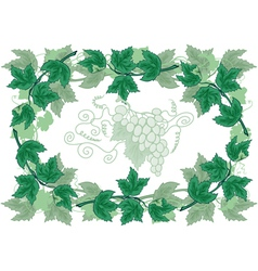 Abstract frame from grapevines vector