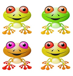 Red-eyed tree frog vector