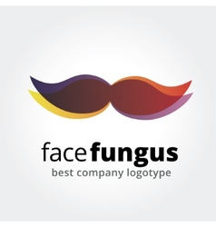 Abstract whiskers logotype concept isolated on vector