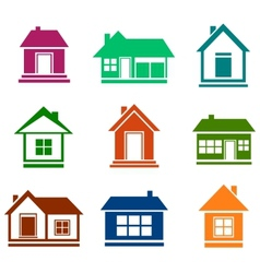 Colorful cottage set vector