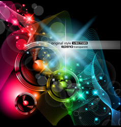 Disco event background vector
