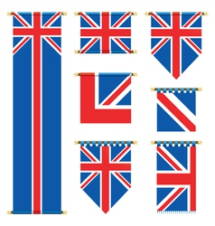 United kingdom banners vector