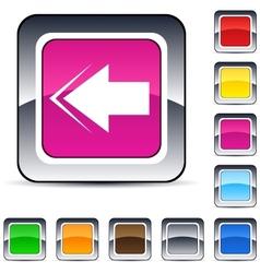 Back arrow square button vector