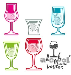 Colorful glasses vector