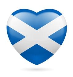 Heart icon of scotland vector