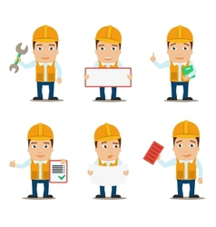 Builder characters set vector