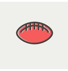Football ball thin line icon vector