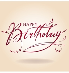 Birthday inscription vector
