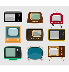 Set of vintage tvs vector