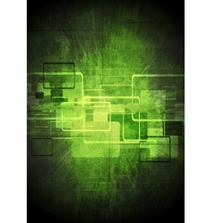 Abstract tech green design vector