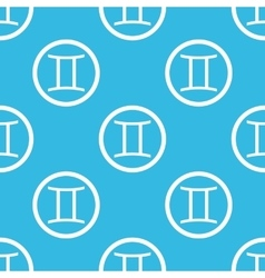 Gemini sign blue pattern vector
