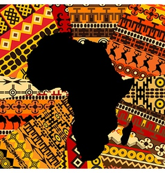 Africa map ethnic background vector