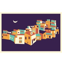 House set asian night city vector