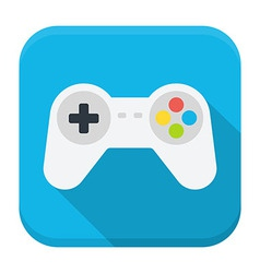 Game console flat app icon with long shadow vector