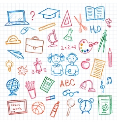 Set of school sign and symbol vector