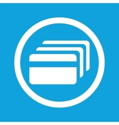 Credit card sign icon vector