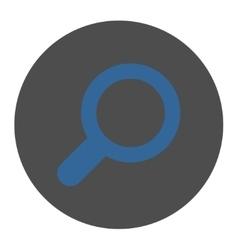 View flat cobalt and gray colors round button vector