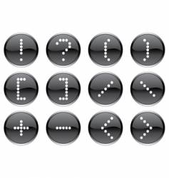 Matrix symbols icon vector