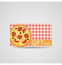 Abstract beautiful pizza gift card design vector