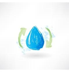 Water arrows grunge icon vector