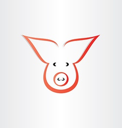Pig symbol pork meat icon design vector