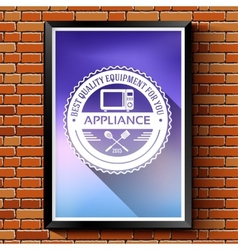 Household appliances logo or label template vector